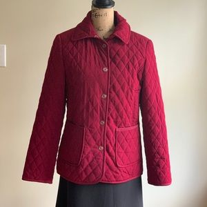 Giacca red quilted jacket coat size S